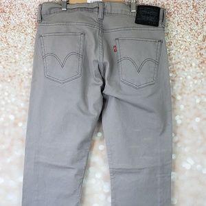 Levis 511 Sz 34 x 32 Gray Slim Skinny Fit Stretch